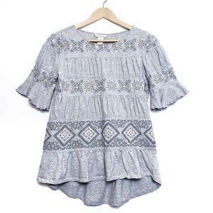 Sundance Short Sleeve Embroidered Top T-shirt